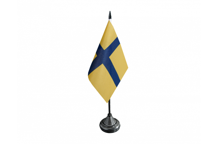 Sweden Ostergotland Table Flag Best Buy Flags Co Uk