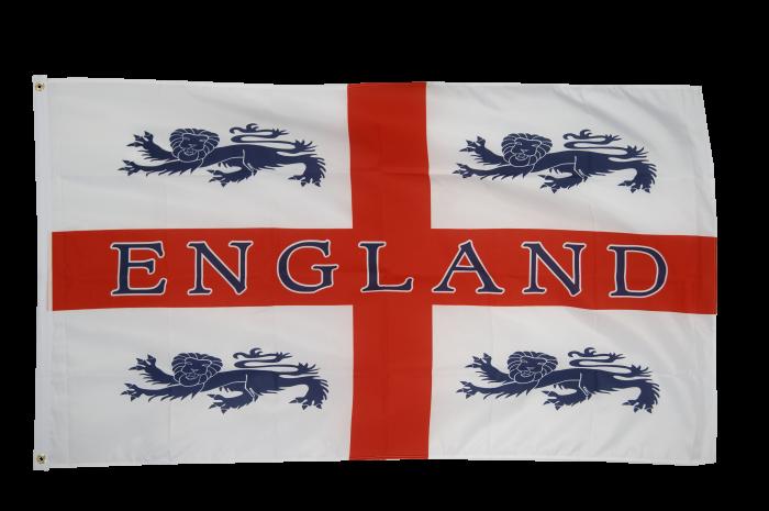 England 4 lions Flag - 3 x 5 ft. / 90 x 150 cm