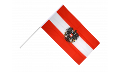 Austria with eagle Hand Waving Flag - 2 x 3 ft.