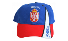 Serbia with coat of arms Cap, fan
