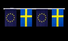 Sweden - European Union EU Friendship Bunting Flags - 5.9 x 8.65 inch