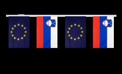 Slovenia - European Union EU Friendship Bunting Flags - 5.9 x 8.65 inch