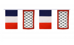 France - Limousin Friendship Bunting Flags - 12 x 18 inch