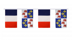 France - Picardie Friendship Bunting Flags - 12 x 18 inch