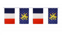 France - French Comte Friendship Bunting Flags - 12 x 18 inch