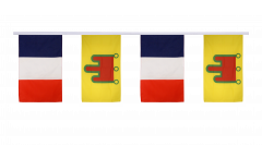 France - Auvergne Friendship Bunting Flags - 12 x 18 inch