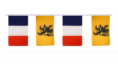France - Nord-Pas de Calais Friendship Bunting Flags - 12 x 18 inch