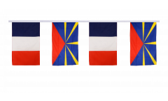 France - reunion Friendship Bunting Flags - 12 x 18 inch