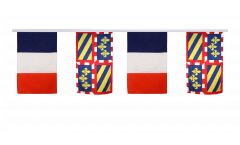 France - Burgundy Friendship Bunting Flags - 12 x 18 inch