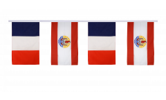 France - French Polynesia Friendship Bunting Flags - 12 x 18 inch