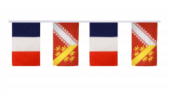 France - Alsace Friendship Bunting Flags - 12 x 18 inch