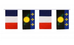 France - Guadeloupe Friendship Bunting Flags - 12 x 18 inch