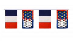 France - Pay de la Loire Friendship Bunting Flags - 12 x 18 inch