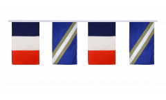 France - Champagne-Ardenne Friendship Bunting Flags - 12 x 18 inch