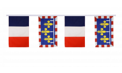 France - Centre Friendship Bunting Flags - 12 x 18 inch