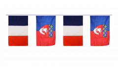 France - Paris Friendship Bunting Flags - 12 x 18 inch