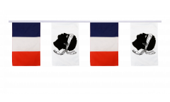 France - Corsica Friendship Bunting Flags - 12 x 18 inch