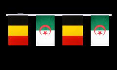 Belgium - Algeria Friendship Bunting Flags - 5.9 x 8.65 inch