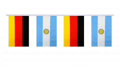 Germany - Argentina Friendship Bunting Flags - 5.9 x 8.65 inch