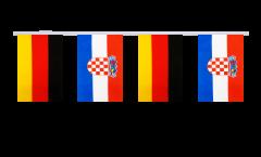 Germany - Croatia Friendship Bunting Flags - 5.9 x 8.65 inch