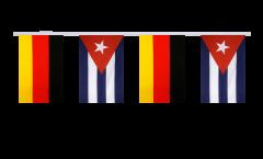Germany - Cuba Friendship Bunting Flags - 5.9 x 8.65 inch