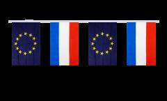 Luxembourg - European Union EU Friendship Bunting Flags - 5.9 x 8.65 inch