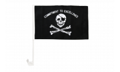 Pirate Commitment to excellence Car Flag - 12 x 16 inch