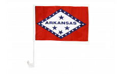 USA Arkansas Car Flag - 12 x 16 inch