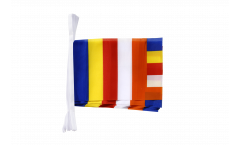 Buddhist Bunting Flags - 5.9 x 8.65 inch