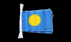 Palau Bunting Flags - 5.9 x 8.65 inch