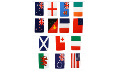 Rugby World Cup 2013 Bunting Flags - 5.9 x 8.65 inch