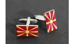 Cufflinks North Macedonia Flag - 0.8 x 0.5 inch