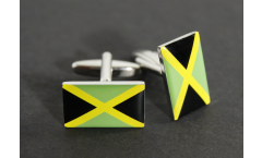 Cufflinks Jamaica Flag - 0.8 x 0.5 inch