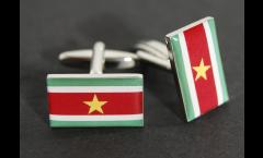 Cufflinks Suriname Flag - 0.8 x 0.5 inch
