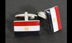 Cufflinks Egypt Flag - 0.8 x 0.5 inch