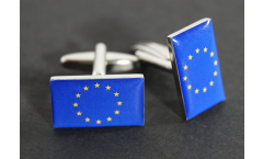 Cufflinks European Union EU Flag - 0.8 x 0.5 inch