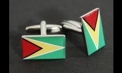 Cufflinks Guyana Flag - 0.8 x 0.5 inch