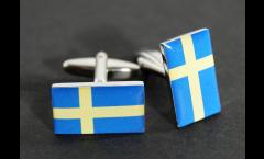 Cufflinks Sweden Flag - 0.8 x 0.5 inch