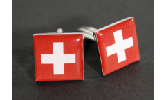Cufflinks Switzerland Flag - 0.8 x 0.5 inch
