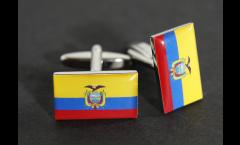 Cufflinks Ecuador Flag - 0.8 x 0.5 inch