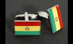 Cufflinks Bolivia Flag - 0.8 x 0.5 inch