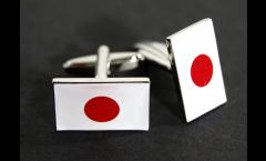 Cufflinks Japan Flag - 0.8 x 0.5 inch