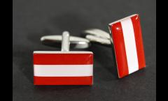Cufflinks Austria Flag - 0.8 x 0.5 inch