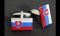 Cufflinks Slovakia Flag - 0.8 x 0.5 inch