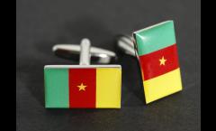 Cufflinks Cameroon Flag - 0.8 x 0.5 inch