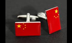 Cufflinks China Flag - 0.8 x 0.5 inch