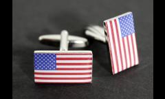 Cufflinks USA Flag - 0.8 x 0.5 inch