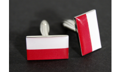 Cufflinks Poland Flag - 0.8 x 0.5 inch