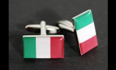 Cufflinks Italy Flag - 0.8 x 0.5 inch