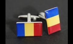 Cufflinks Rumania Flag - 0.8 x 0.5 inch